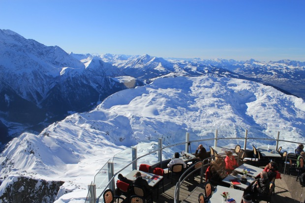 My favorite restaurant above Chamonix. Le Panoramic Restaurant.