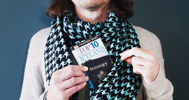 The Speakeasy scarf can hide all your travel valuables.