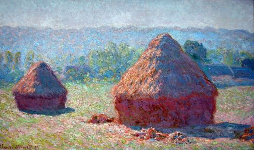 Paris Musee D'Orsay Claude Monet 1891 Haystacks End Of Summer Morning