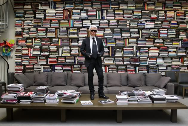 style-interior-decor-chic-cheap-cheerful-bookshelves-karl-lagerfeld-studio