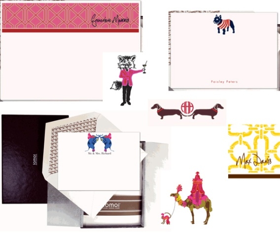 I love the whimsical stationery from iomoi.com.