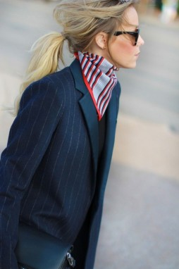 messy-low-pony-pinstrip-oversized-men-blazer-silk-scarf-french-girl-style-750x1125