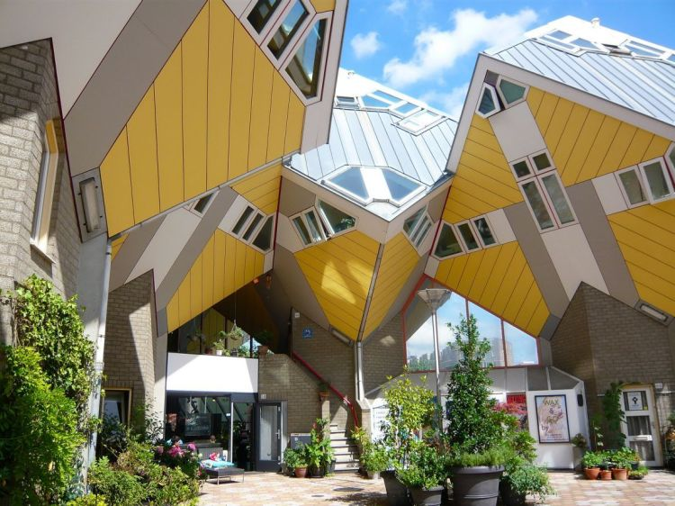 Rotterdam's famous cube houses, designed by Piet Blom.