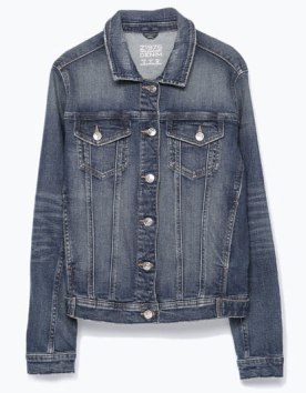 Denim jacket. http://bit.ly/1abyPeu.