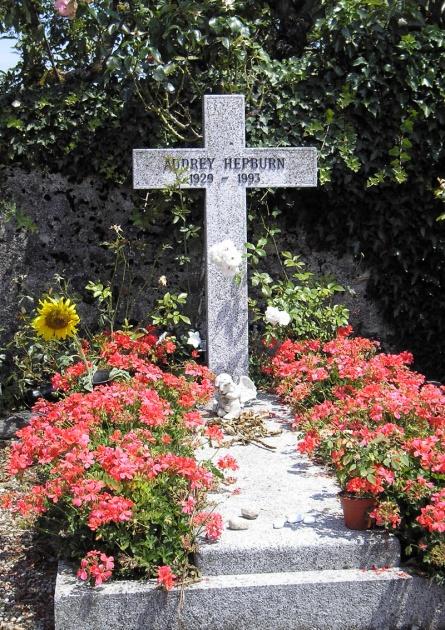 Audrey Hepburn's grave.