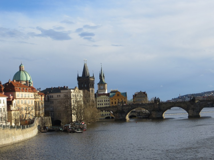 Crossing Charles Bridge.