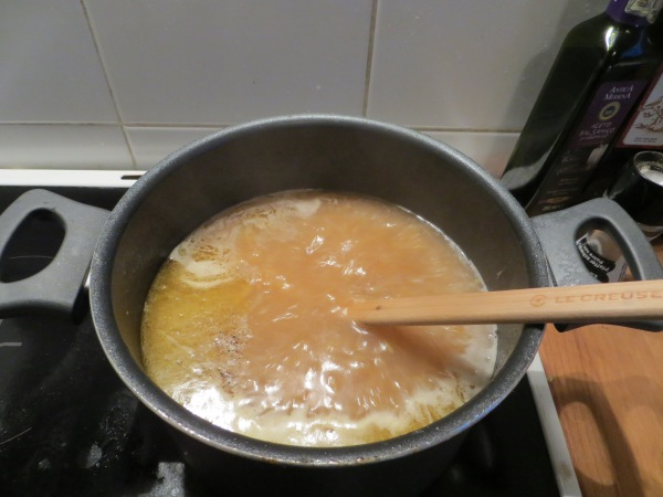 Into the pot...
