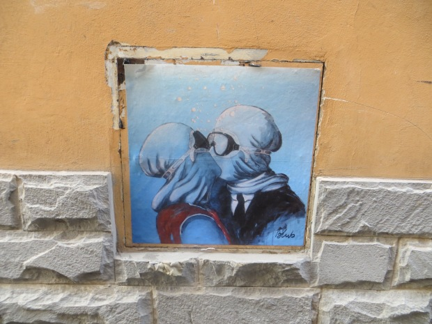 We found this underwater-themed street art hidden all over Florence.