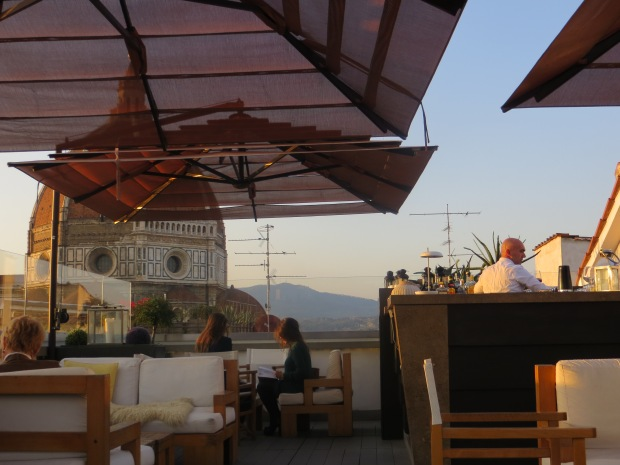 Hotel Cavour's rooftop.