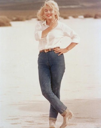 California girl Marilyn Monroe in denim.