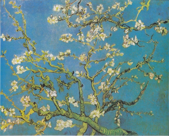 "A favorite. ""Almond Blossoms""--painted for the birth of his nephew."