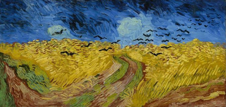 "Considered Van Gogh's last work, ""Wheatfield with Crows."""