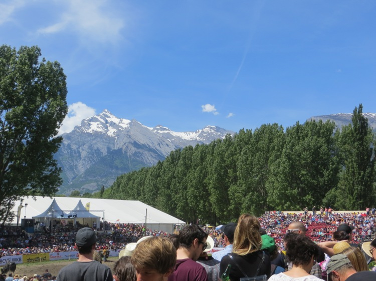 At a rodeo in Switzerland.