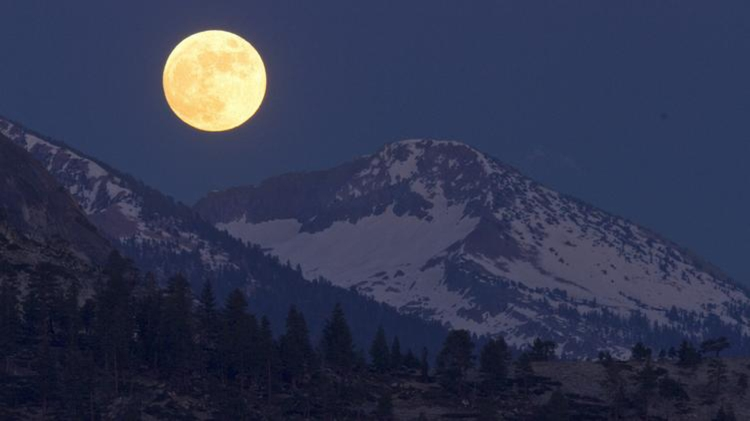 A honey moon over Yosemite.