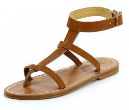 Sandale tropézienne femme ARTIMON Cuir Pul Naturel Vue 1